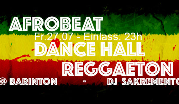 Afrobeat, Dancehall, Reggaeton party @ Barinton