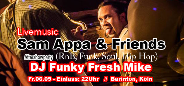 Sam Appa & Friends @ Barinton