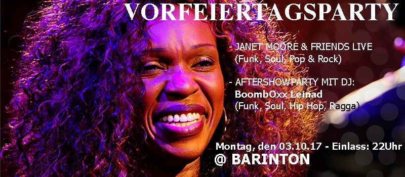 Janet Moore & Friends // DJ BoombOxx Leinad