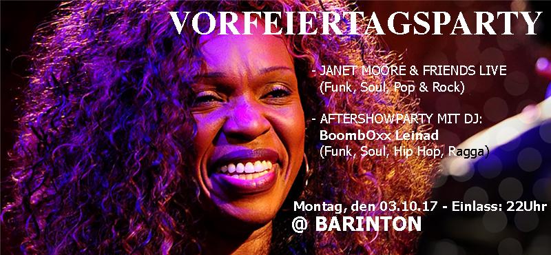 Janet Moore & Friends // DJ BoombOxx Leinad