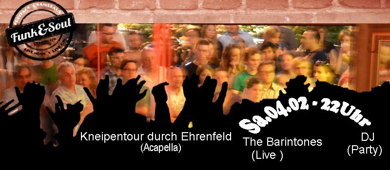 Kneipentour durch Ehrenfeld // DJ // The Barintones